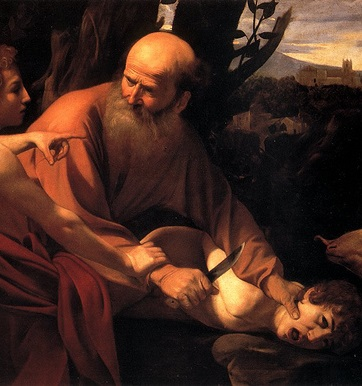 Caravaggio's Sacrifice of Isaac. Courtesy of carulmare on Flickr.