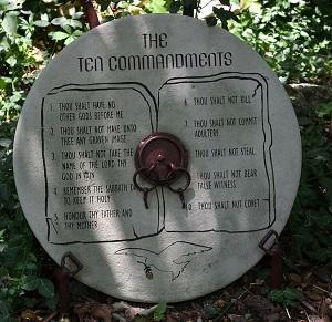 Ten Commandments Stone