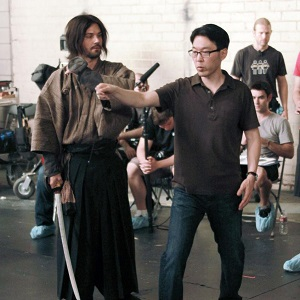 Adam Lavorgna and Craig Shimahara on the set of Masterless